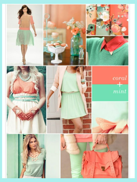 Spring/Summer Colors: Coral and Mint
