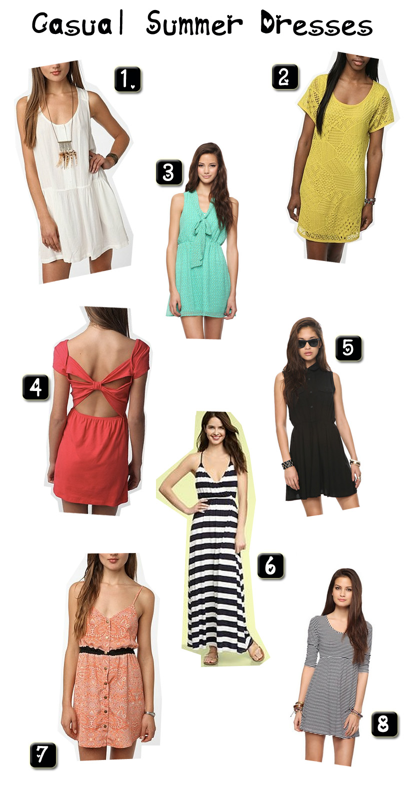 2019 year look- Summer casual dress style