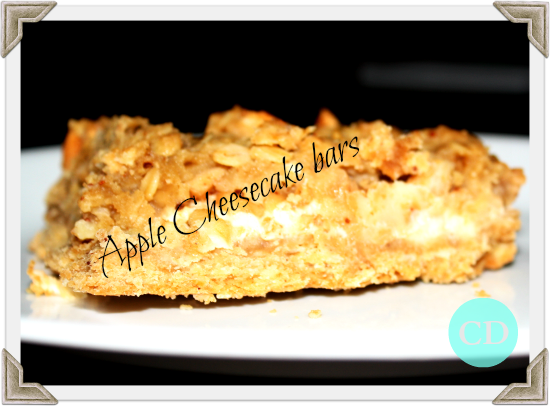 Apple Cheesecake Bar Recipe