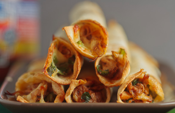 Baked Chicken and Spinach Taquitos
