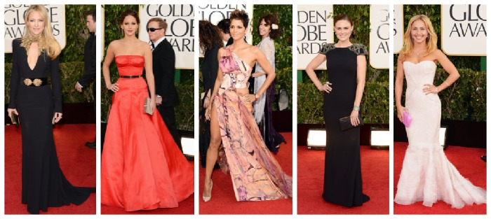 Best dressed at the Golden Globes 2013