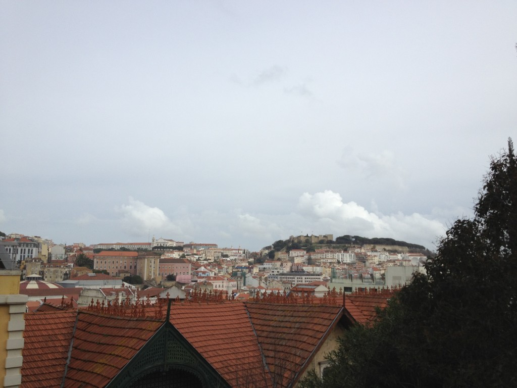 This was my view of Lisbon from the balcony