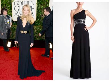 Kate Hudon's Golden Globes dress
