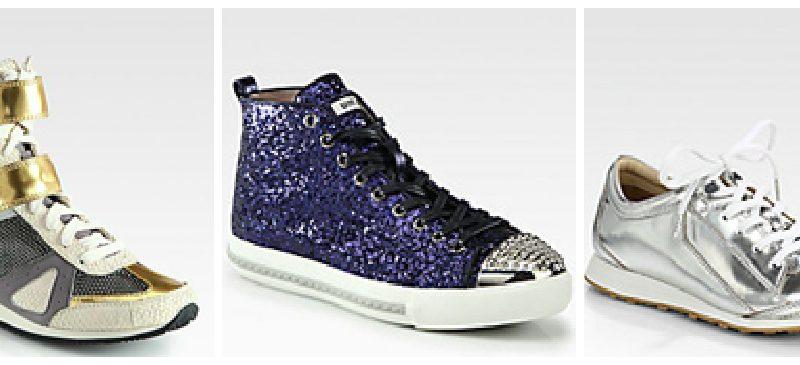 Trends We Love: Shiny/ Metallic Sneakers