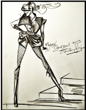 Rubin Singer Beyonce Superbowl Outfit