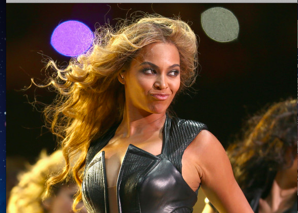 So there was a football game at the Beyonce concert last night?
