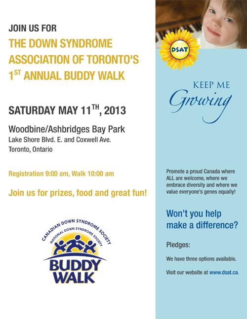 Toronto's First Annual Buddy Walk