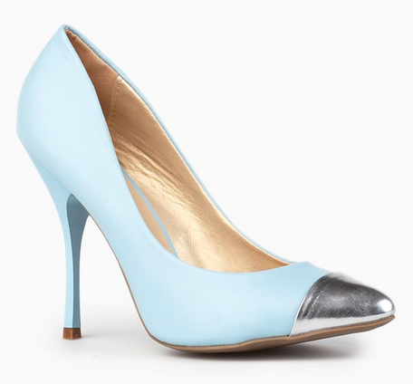 Metallic toe shoe, aldo toe shoe
