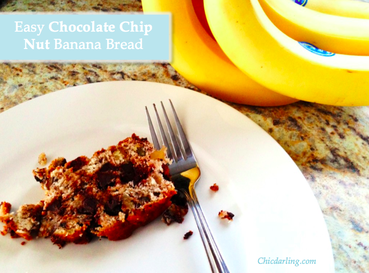 banana nut bread with chocolate