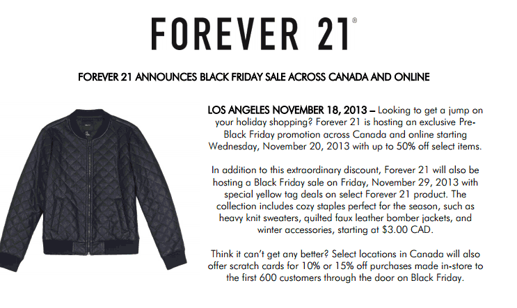 Forever 21 deals after christmas