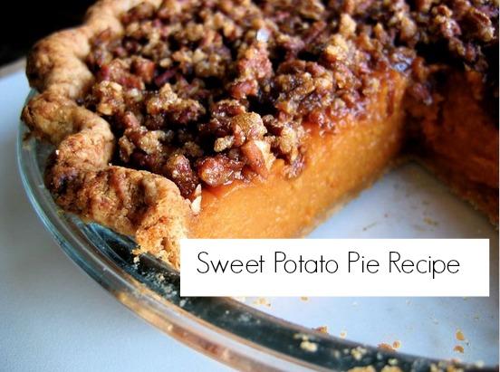 thanksgiving recipes. sweet potato pie recipe
