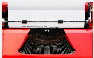 How to Handle Job Rejection, red type writer
