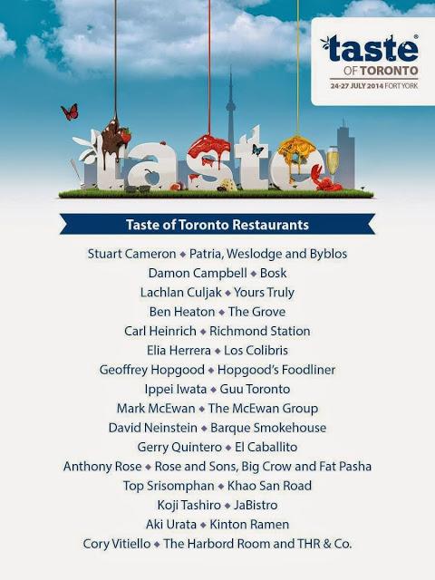 Taste of Toronto 2014, second harvest Toronto