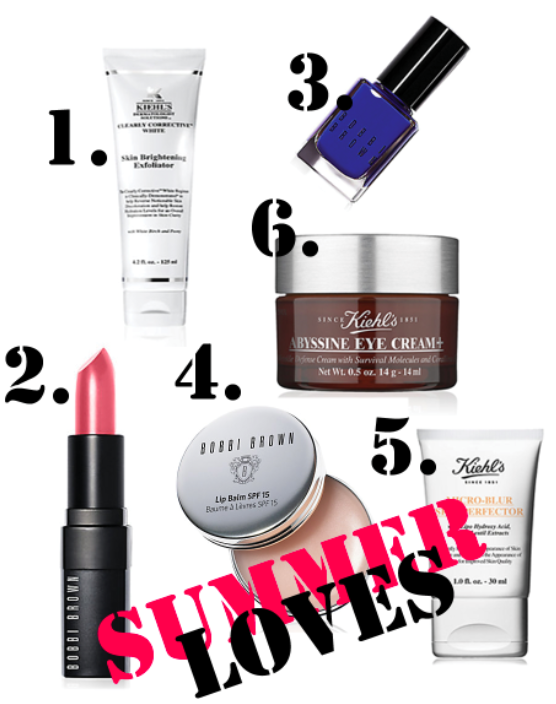 Summer Loves: Kiehls and Bobby Brown