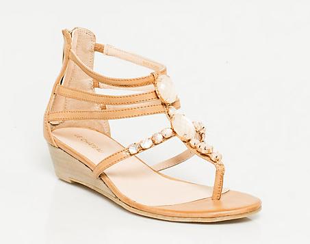 Silver sandals for beach wedding