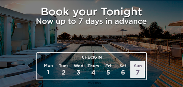 Travellers Rejoice! Hotel Tonight Allows You Book 7 Days in Advance!