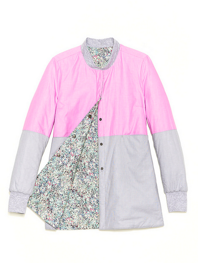 Trout Rainwear S/S14 Rainbow Liner in pink (front)