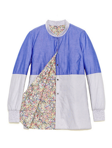 Trout Rainwear S/S14 Rainbow Liner in blue (front)