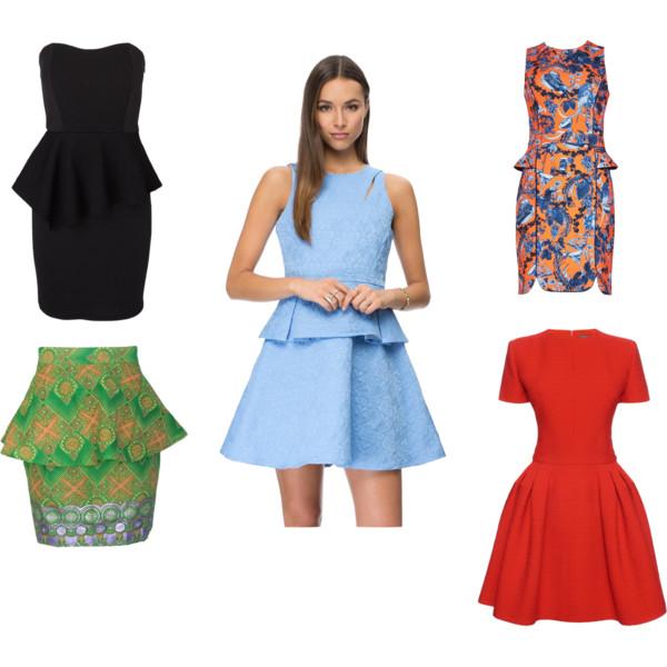 Peplum-The New Little Black Dress