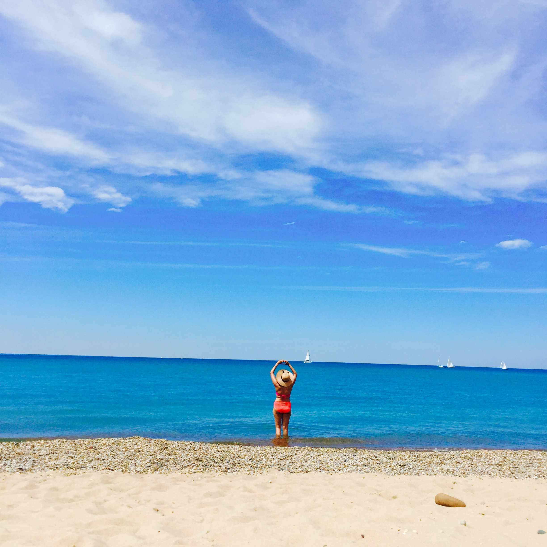 Blue flag beach in southwest ontario. Canatara Beach, and park