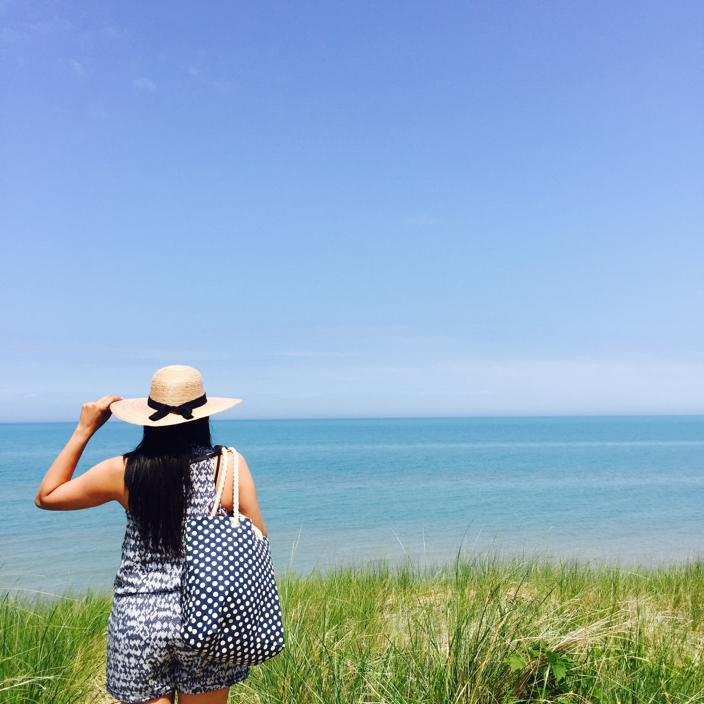 Angelie Sood in Pinery Provincial Park, Blue Flag Beach, Ontario